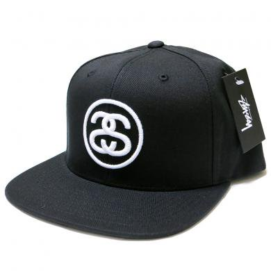 Stussy SS Link SP16 Snapback Cap (Black/White) / ステューシー SSリンク スナップバックキャップ