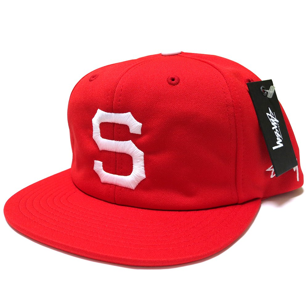 Stussy OLD S Snapback (Red/White) / ステューシー オールドS スナップバックキャップ