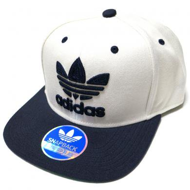 35ddce9adb9d adidas Originals Thrasher Chain Snapback Hat (White/Navy) / アディダス オリジナルス  スラッシャー スナップバック - Neosound online shop インポートウェア 通販