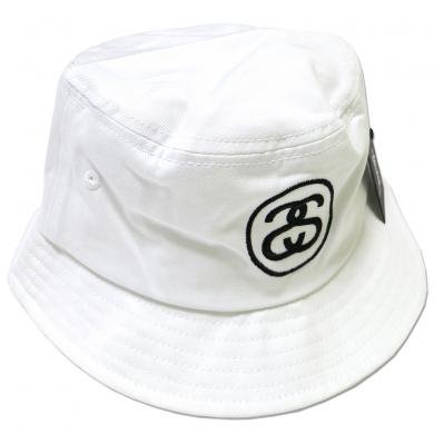 Stussy SS Link SP16 Bucket Hat(White) / ステューシー SSリンク バケットハット
