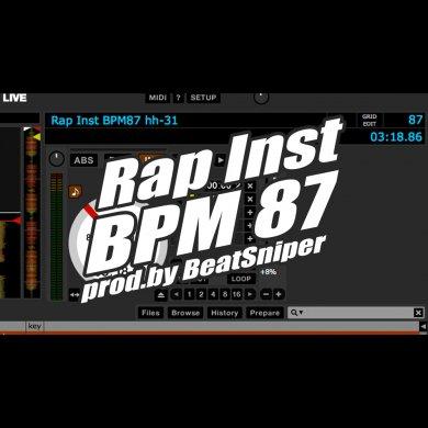 トラック販売 RAP INST BPM87 EXCLUSIVE - ヒップホップ ラップ インストトラック hh-31