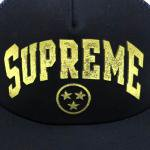 SUPREME GOLD FOIL FOAM SNAPBACK CAP(BLACK/GOLD)/シュプリーム スナップバック キャップ<img class='new_mark_img2' src='https://img.shop-pro.jp/img/new/icons51.gif' style='border:none;display:inline;margin:0px;padding:0px;width:auto;' />