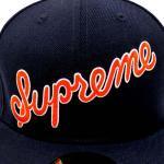 SUPREME SCRIPT NEW ERA CAP(NAVY/ORANGE)/シュプリーム スクリプト ニューエラ