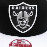 NEW ERA SNAPBACK CAP Oakland Raiders(BLACK/WHITE)/ニューエラ スナップバックキャップ<img class='new_mark_img2' src='https://img.shop-pro.jp/img/new/icons20.gif' style='border:none;display:inline;margin:0px;padding:0px;width:auto;' />
