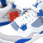 NIKE AIR JORDAN 4 RETRO(WHITE/MILITARY BLUE/NEUTRAL GRAY)/エアジョーダン4 ミリタリーブルー<img class='new_mark_img2' src='https://img.shop-pro.jp/img/new/icons51.gif' style='border:none;display:inline;margin:0px;padding:0px;width:auto;' />