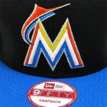 NEW ERA SNAPBACK CAP MIAMI MARLINS (BLACK/BLUE)/ニューエラ スナップバックキャップ マイアミ<img class='new_mark_img2' src='https://img.shop-pro.jp/img/new/icons51.gif' style='border:none;display:inline;margin:0px;padding:0px;width:auto;' />
