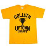 GOLIATH UPTOWN CHAMPS T-SHIRT(YELLOW)/ゴリアス アップタウン チャンプス Tシャツ<img class='new_mark_img2' src='https://img.shop-pro.jp/img/new/icons51.gif' style='border:none;display:inline;margin:0px;padding:0px;width:auto;' />