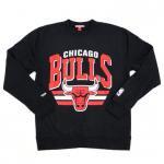 Mitchell & Ness Chicago Bulls NBA Stadium Crew Fleece(BLACK)/ミッチェル&ネス フリース ブルズ