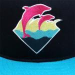 PINK DOLPHIN CLOTHING SNAPBACK CAP(NAVY/TURQUOISE BLUE)/ピンクドルフィン スナップバック キャップ