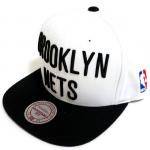 Mitchell & Ness SnapBack Cap Brooklyn Nets(WHITE/BLACK)/ミッチェル&ネス ブルックリンネッツ<img class='new_mark_img2' src='https://img.shop-pro.jp/img/new/icons51.gif' style='border:none;display:inline;margin:0px;padding:0px;width:auto;' />