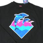 PINK DOLPHIN Ocean Camo Waves Crewneck(BLACK)/ピンクドルフィン オーシャンカモ ウェイブス<img class='new_mark_img2' src='https://img.shop-pro.jp/img/new/icons51.gif' style='border:none;display:inline;margin:0px;padding:0px;width:auto;' />