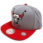 Mitchell & Ness SnapBack Cap BULLS(GRAY/RED)/ミッチェル&ネス シカゴブルズ スナップバック
