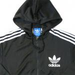 adidas Originals Ziphoody trefoil logo(BLACK/WHITE)/アディダス オリジナルス ジップフーディー