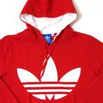 adidas Originals Big Logo Pull Over Fleece(RED)/アディダス ビッグロゴ プルオーバー