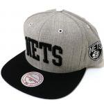 Mitchell & Ness SnapBack Cap Brooklyn Nets(GRAY/BLACK)/ミッチェル&ネス ブルックリンネッツ