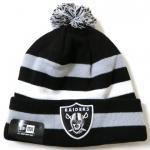 New Era NFL Sideline Knit Cap Raiders / ニューエラ ボンボン ニット帽 レイダース