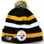 New Era NFL Sideline Knit Cap Pittsburgh Steelers / ニューエラ ボンボン ニット帽 スティーラーズ