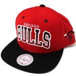 Mitchell & Ness SnapBack Cap BULLS(BLACK/RED)/ミッチェル&ネス シカゴブルズ スナップバック