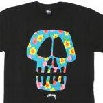 Stussy Flower Skull T-Shirt(BLACK/BLUE)/ステューシー フラワースカル Tシャツ 2013Sモデル<img class='new_mark_img2' src='https://img.shop-pro.jp/img/new/icons20.gif' style='border:none;display:inline;margin:0px;padding:0px;width:auto;' />
