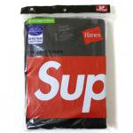 SUPREME Hanes T-SHIRT 3Pack(BLACK)/����ץ꡼�� �إ��� 3�祻�å�<img class='new_mark_img2' src='http://shop.neosound.jp/img/new/icons5.gif' style='border:none;display:inline;margin:0px;padding:0px;width:auto;' />