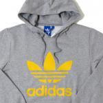 adidas Originals Pullover trefoil logo (GRAY/YELLOW)/アディダス プルオーバー【お取り寄せ商品】<img class='new_mark_img2' src='https://img.shop-pro.jp/img/new/icons51.gif' style='border:none;display:inline;margin:0px;padding:0px;width:auto;' />