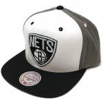 Mitchell & Ness SnapBack Cap Brooklyn Nets(WHITE/GRAY)/ミッチェル&ネス ブルックリンネッツ