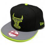 NEW ERA SNAPBACK CAP BULLS(BLACK/LIME YELLOW)/ニューエラ スナップバック キャップ シカゴブルズ