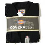 Dickies Coverall(BLACK)/ディッキーズ カバーオール 長袖 つなぎ【お取り寄せ商品】