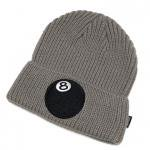 Stussy 8-BALL CUFF BEANIE(GRAY)/ステューシー 8ボール カフビーニー ニットキャップ<img class='new_mark_img2' src='https://img.shop-pro.jp/img/new/icons51.gif' style='border:none;display:inline;margin:0px;padding:0px;width:auto;' />