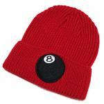 Stussy 8-BALL CUFF BEANIE(RED)/ステューシー 8ボール カフビーニー ニットキャップ