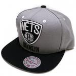 Mitchell & Ness Adjustable Cap Brooklyn Nets(BLACK/GRAY)/ミッチェル&ネス ブルックリンネッツ<img class='new_mark_img2' src='https://img.shop-pro.jp/img/new/icons29.gif' style='border:none;display:inline;margin:0px;padding:0px;width:auto;' />