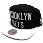 Mitchell & Ness SnapBack Cap Brooklyn Nets��BLACK/WHITE��/�ߥå�������ͥ� �֥�å����ͥå�