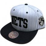 Mitchell & Ness Textured Stripe Denim SnapBack Cap Brooklyn Nets��NAVY/BLACK��/�ߥå�������ͥ�<img class='new_mark_img2' src='http://shop.neosound.jp/img/new/icons20.gif' style='border:none;display:inline;margin:0px;padding:0px;width:auto;' />