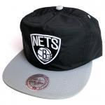 Mitchell & Ness Nylon RipStop cap Brooklyn Nets(GRAY)/ミッチェル&ネス ナイロン リップストップ