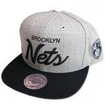 Mitchell & Ness SnapBack Cap Brooklyn Nets(GRAY/BLACK)/ミッチェル&ネス ブルックリンネッツ<img class='new_mark_img2' src='https://img.shop-pro.jp/img/new/icons51.gif' style='border:none;display:inline;margin:0px;padding:0px;width:auto;' />