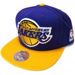 Mitchell & Ness XL LOGO 2Tone SnapBack Cap Los Angeles Lakers / ミッチェル&ネス スナップバック<img class='new_mark_img2' src='https://img.shop-pro.jp/img/new/icons51.gif' style='border:none;display:inline;margin:0px;padding:0px;width:auto;' />