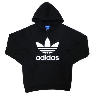 adidas Originals Raglan Trefoil Fleece Hoodie (BLACK)/アディダス ラグラン プルオーバー フーディー