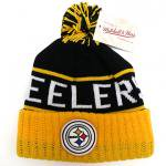 Mitchell & Ness NFL Throwback High Five Cuffed Knit Pittsburgh Steelers / ミッチェル&ネス ニット帽