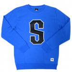 STUSSY GIANT S CREWNECK SWEATSHIRT(MARINA BLUE)/ ステューシー S クルーネック スウェットシャツ<img class='new_mark_img2' src='https://img.shop-pro.jp/img/new/icons20.gif' style='border:none;display:inline;margin:0px;padding:0px;width:auto;' />
