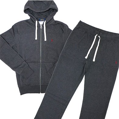 POLO Ralph Lauren Ziphoodie Fleece SETUP��Charcoal��/�ݥ� ���ե?��� ���åȥ��å� ����