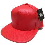 Stussy Mini SS Leather Strapback Cap (RED)/ステューシー ミニ SS レザー ストラップバックキャップ
