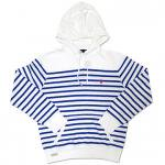 Polo Ralph Lauren Atlantic Terry Hoodie (White/Blue) / ポロ ラルフローレン ボーダー プルオーバーフーディー<img class='new_mark_img2' src='https://img.shop-pro.jp/img/new/icons51.gif' style='border:none;display:inline;margin:0px;padding:0px;width:auto;' />