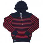 Polo Ralph Lauren Atlantic Terry Hoodie (Navy/Red) / ポロ ラルフローレン ボーダー プルオーバーフーディー<img class='new_mark_img2' src='https://img.shop-pro.jp/img/new/icons51.gif' style='border:none;display:inline;margin:0px;padding:0px;width:auto;' />