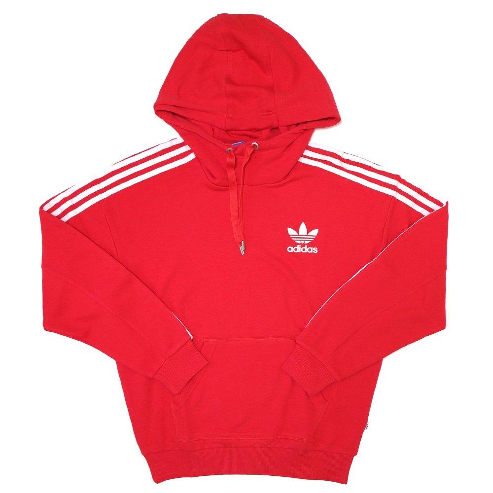 adidas Originals 3-Stripes Hoodie (Red) / アディダス オリジナルス 3本線 プルオーバー フーディー USモデル