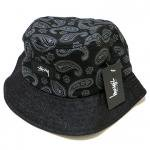 Stussy Simple Paisley Bucket Hat (Black) / ステューシー ペイズリー柄 バケットハット<img class='new_mark_img2' src='https://img.shop-pro.jp/img/new/icons51.gif' style='border:none;display:inline;margin:0px;padding:0px;width:auto;' />