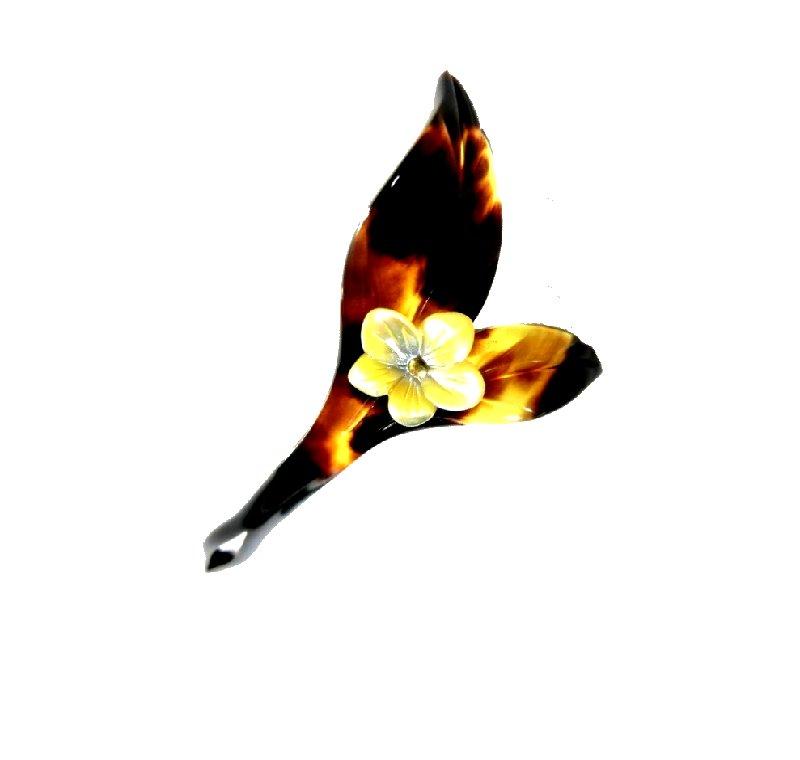 ■本べっ甲かんざし白蝶貝付 −10