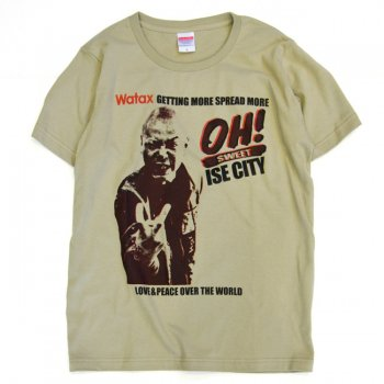 ▼WATAX - OH! SWEET ISE CITY T-shirt サンドカーキ▼