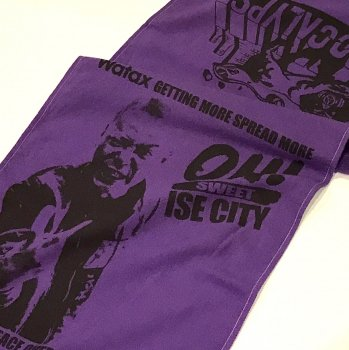 ▼WATAX × APOCALYPSE - OH! SWEET ISE CITY FACE TOWEL パープル▼