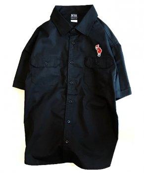 ▼APOCALYPSE - 猫ずきんちゃんワークシャツ レッド▼