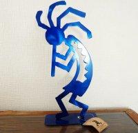 ココペリのスチールアート 特大 ブルー